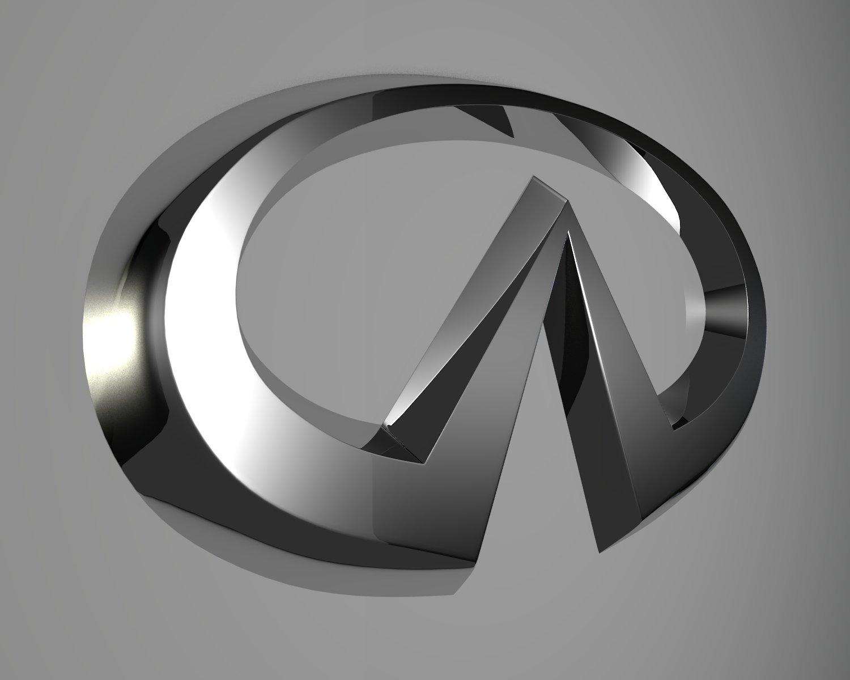 Infiniti Logo 3d Model In Parts Of Auto 3dexport