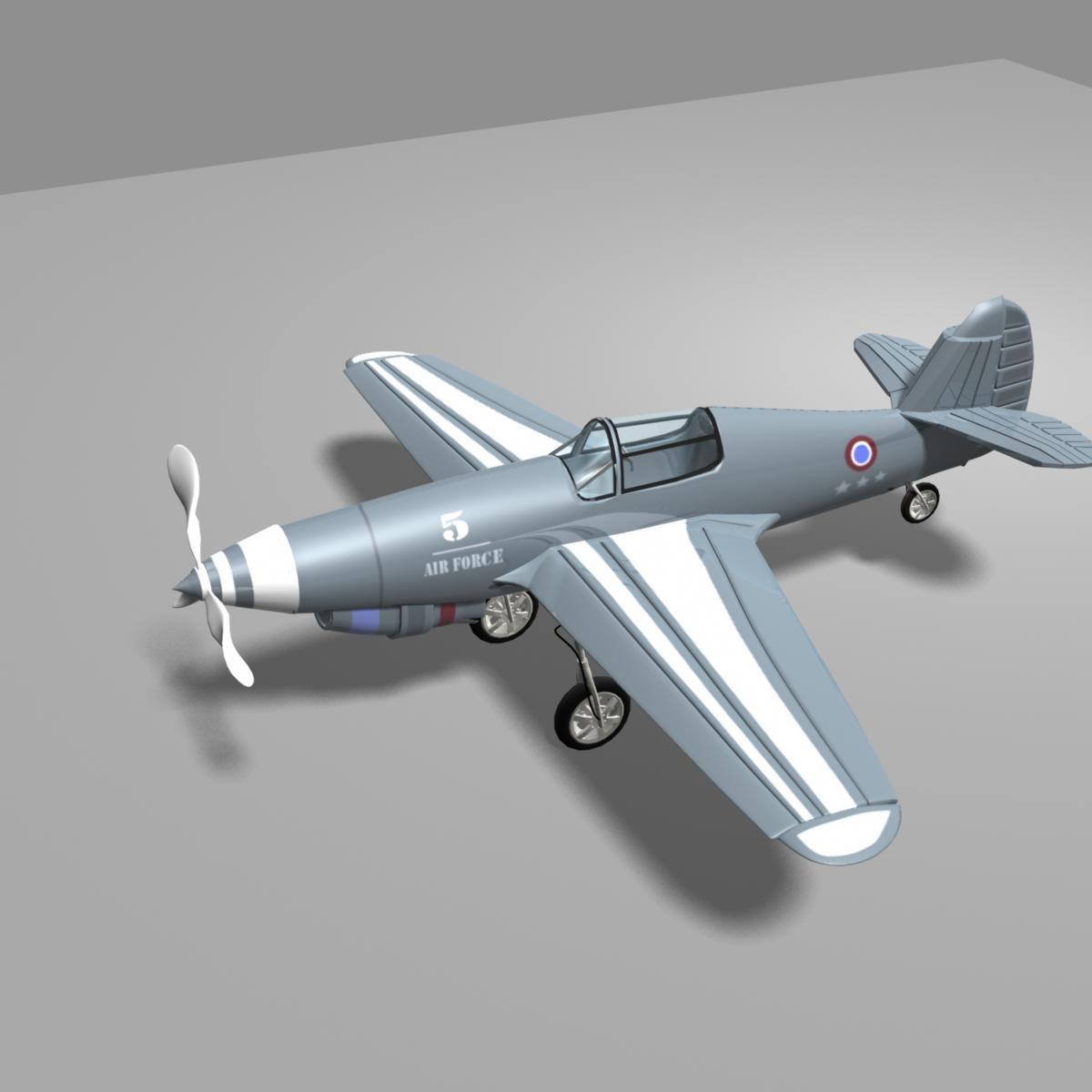 Fighter Plane 3D Model in Fighter 3DExport