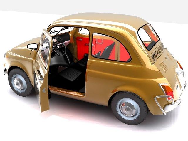 Fiat 500 3d Model In Old Cars 3dexport