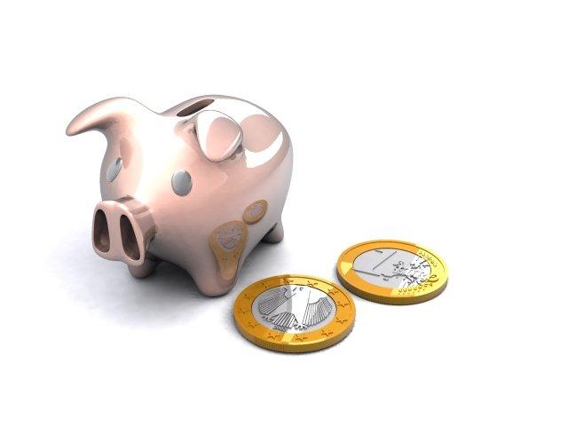Piggy Bank  Euro Coins 3D Model