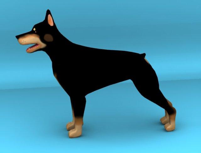 Dobermann dog 3D Model
