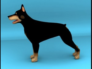 Dobermann dog