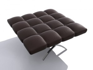 3D Leather Stool