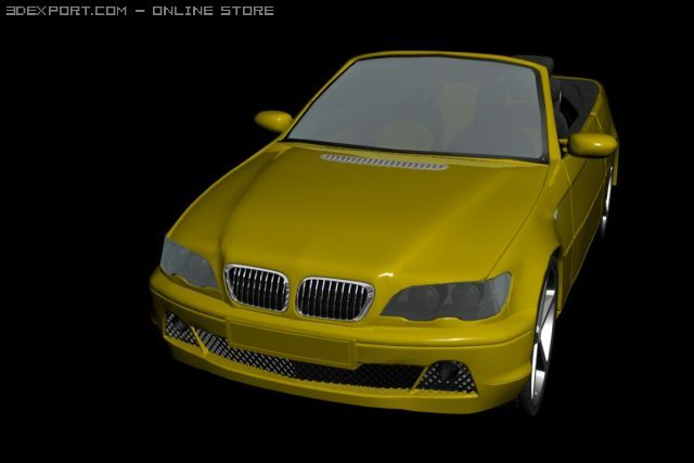BMW M3 e46 Cabrio 3D Model