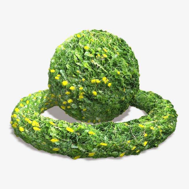Dandelion Weeds Tile 3D Model