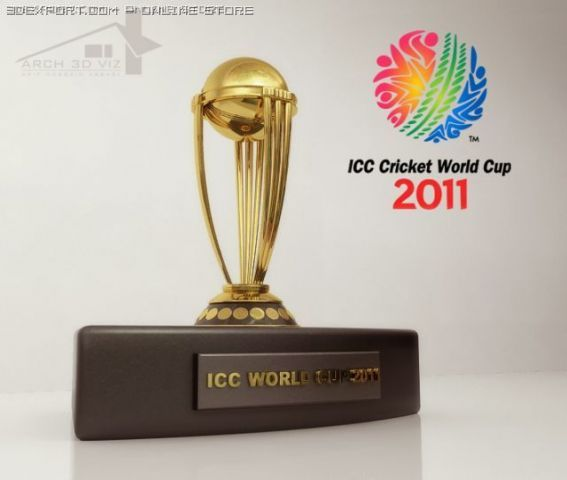 ICC Cricket World Cup 2011 Trophy 3D Model