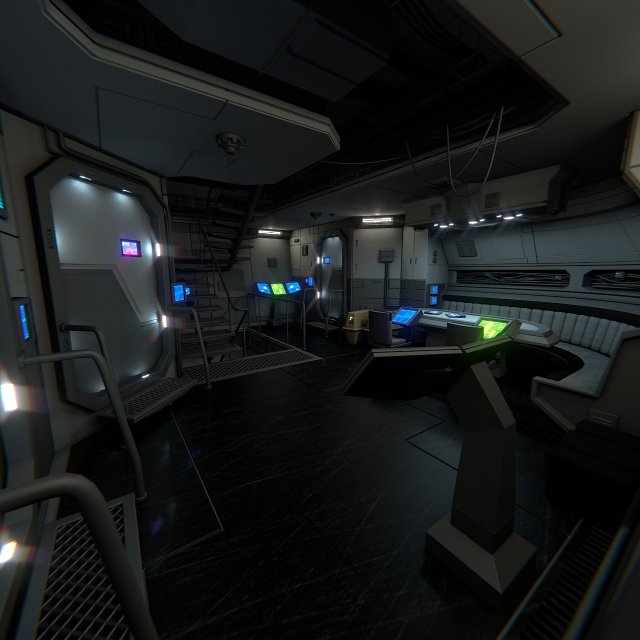 Spaceship Interior B HD 2 3D Model
