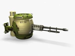 Scifi turret