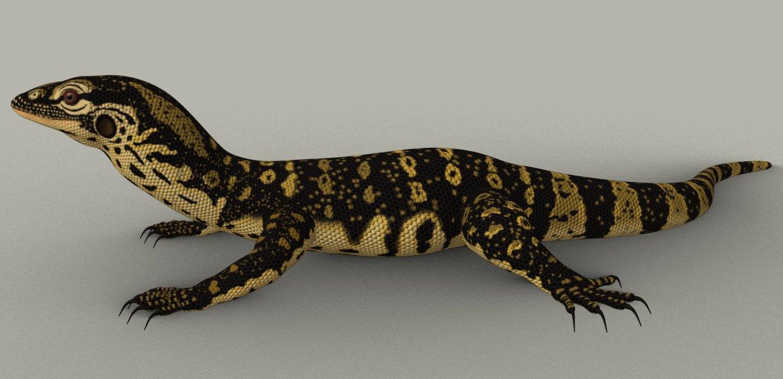 Monitor Lizard 3d Model In Reptiles 3dexport