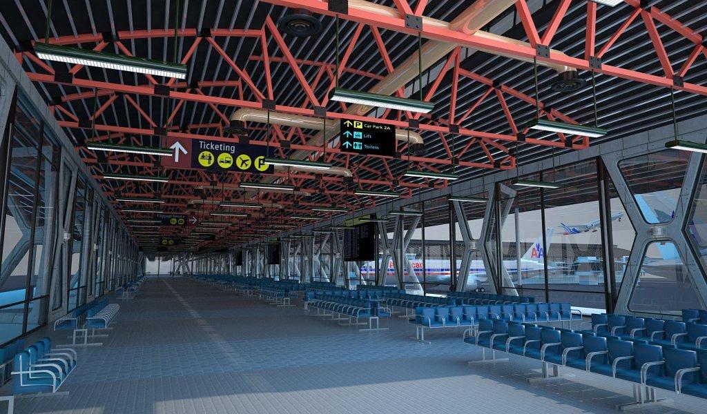 AIRPORT TERMINAL 3D Model in Architectural Interiors 3DExport