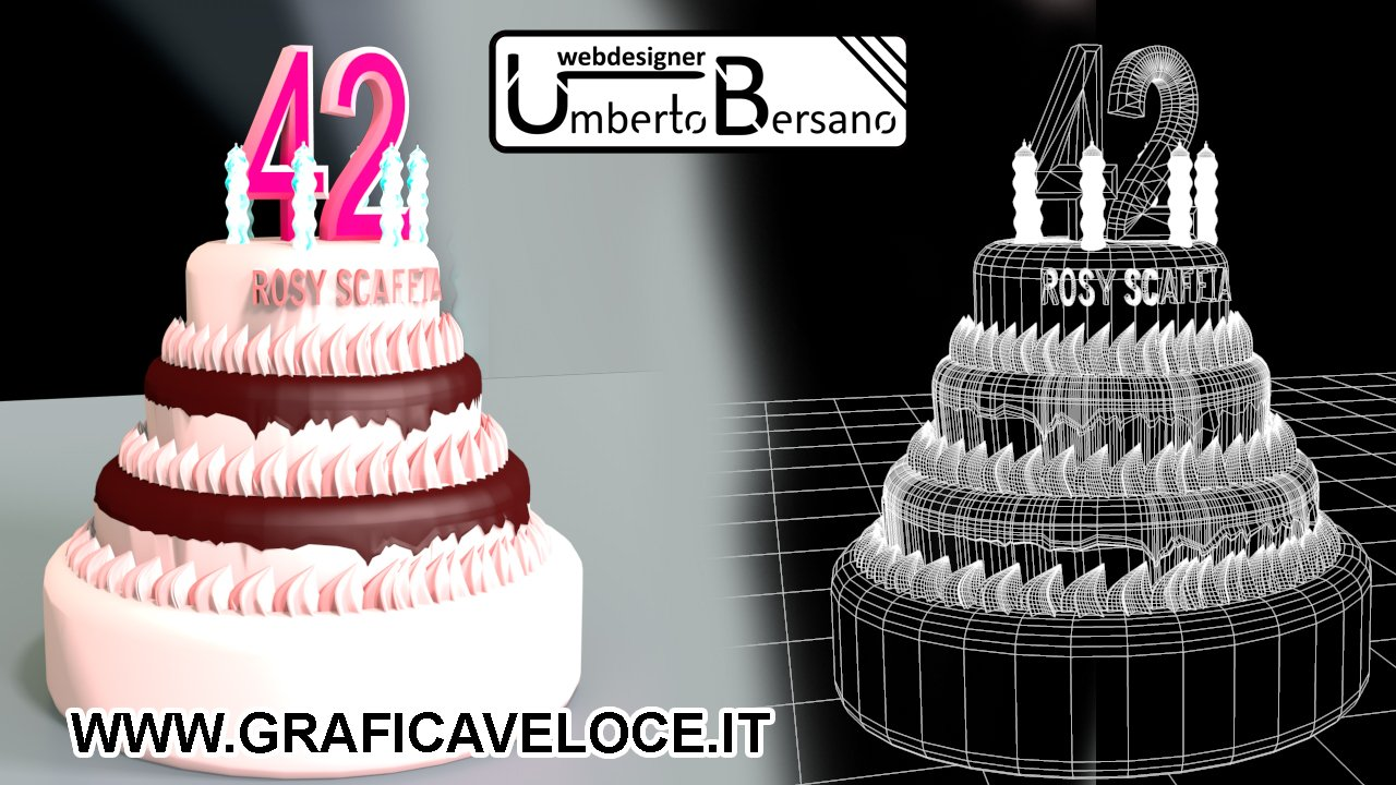 Gateau original 3d