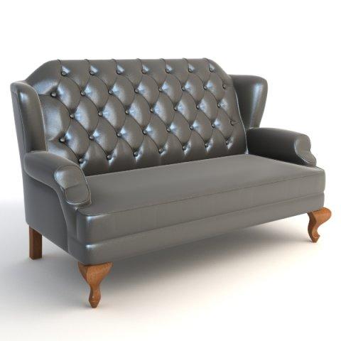 Wingback Sofa 3D Model