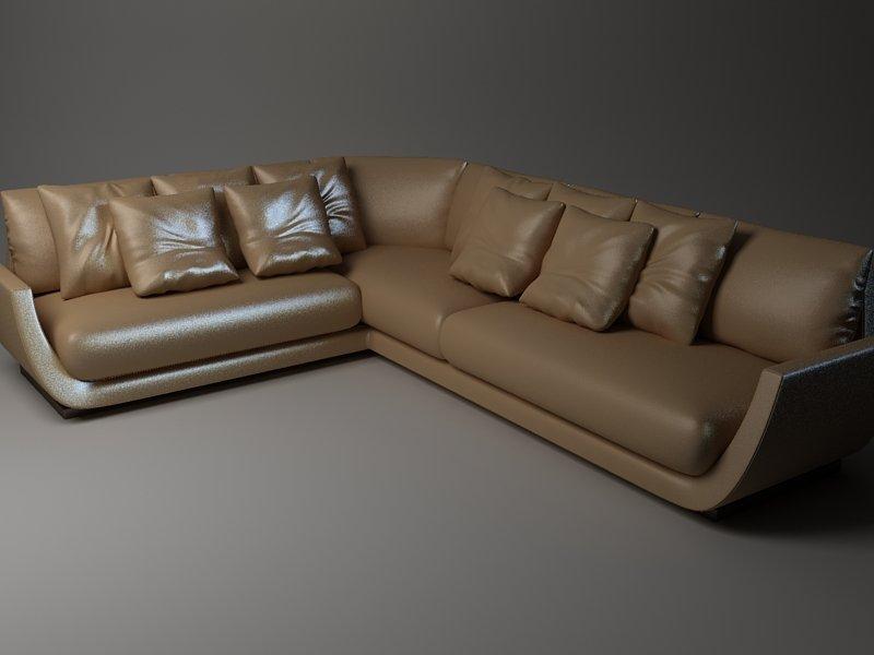 Corner Sofa 3D Model