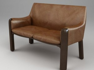 Photorealistic Upholstered Bench