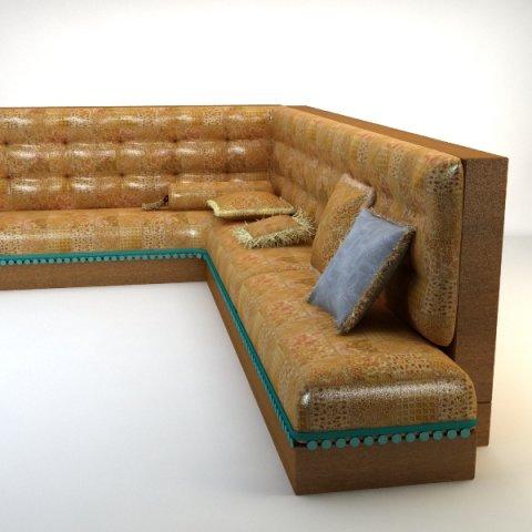 Turkish Hookah Sofa 3D Model