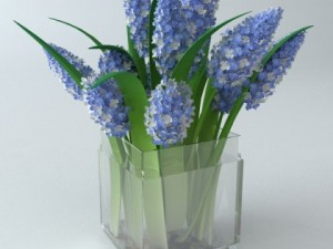 Lilac Bouquet in Glass Vase