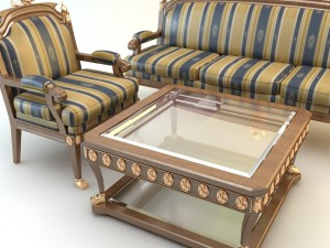 Table Armchair  Divan Set
