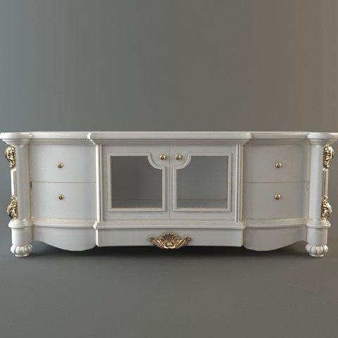 Ornate Credenza Cabinet 3D Model
