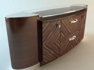 Zebrawood Buffet Cabinet
