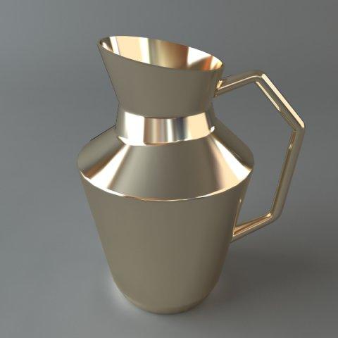 Shiny Metal Pitcher 3D Model