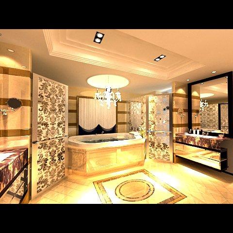 Photorealistic Bathroom 0006 3D Model