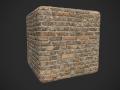 Yelowred brick wall