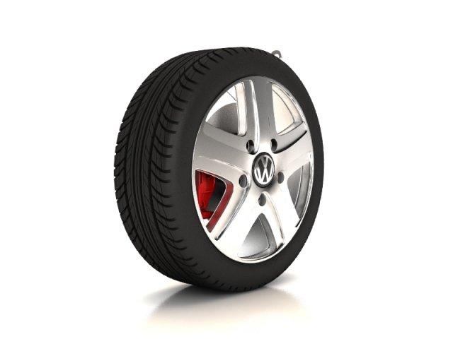 Volkswagen Touareg  wheel 3D Model