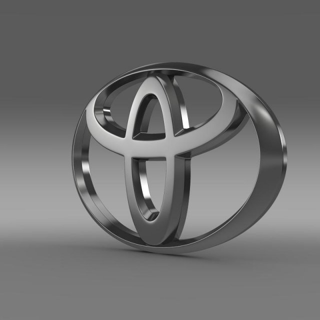 Toyota Car Logo 3d In 3dexport