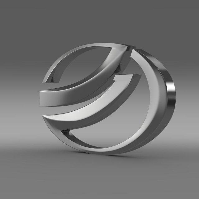 Zaz Logo 3D Model