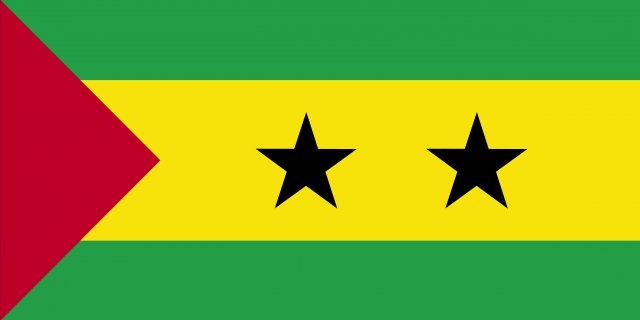 Sao Tome and Principe flag 3D Model