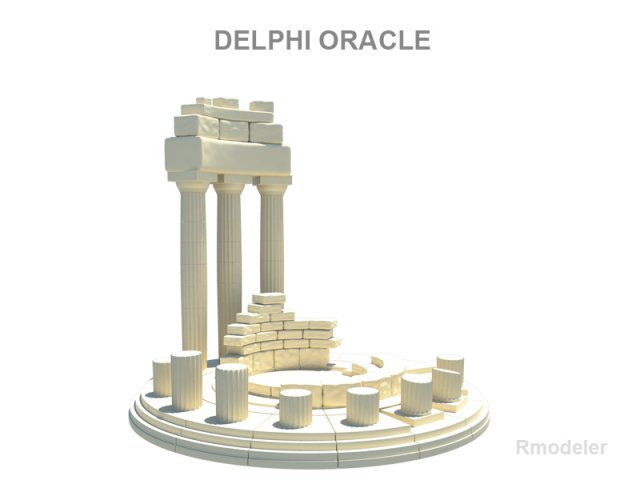The ruins of the Delphic oracle 3D Model