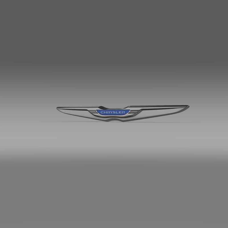 Chrysler New Logo 3d Model In Parts Of Auto 3dexport