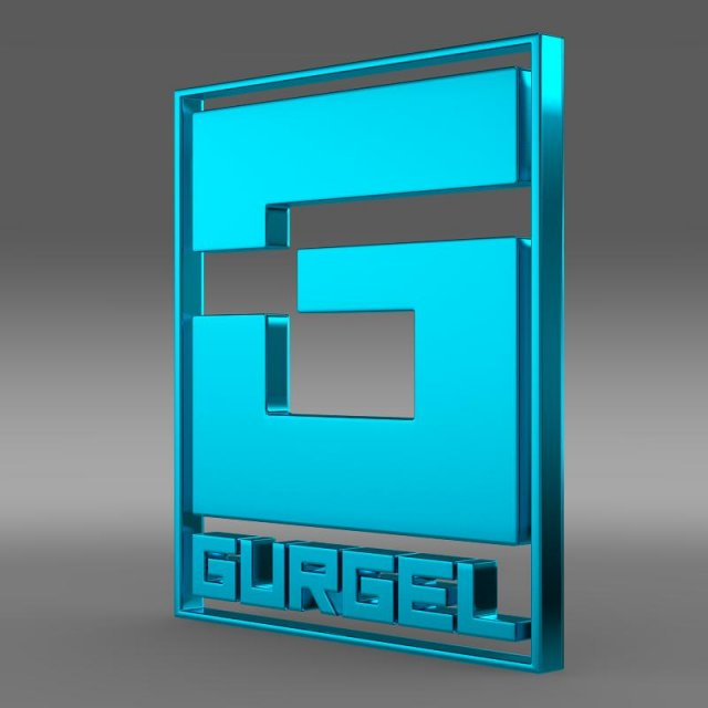 Gurgel Logo 3D Model