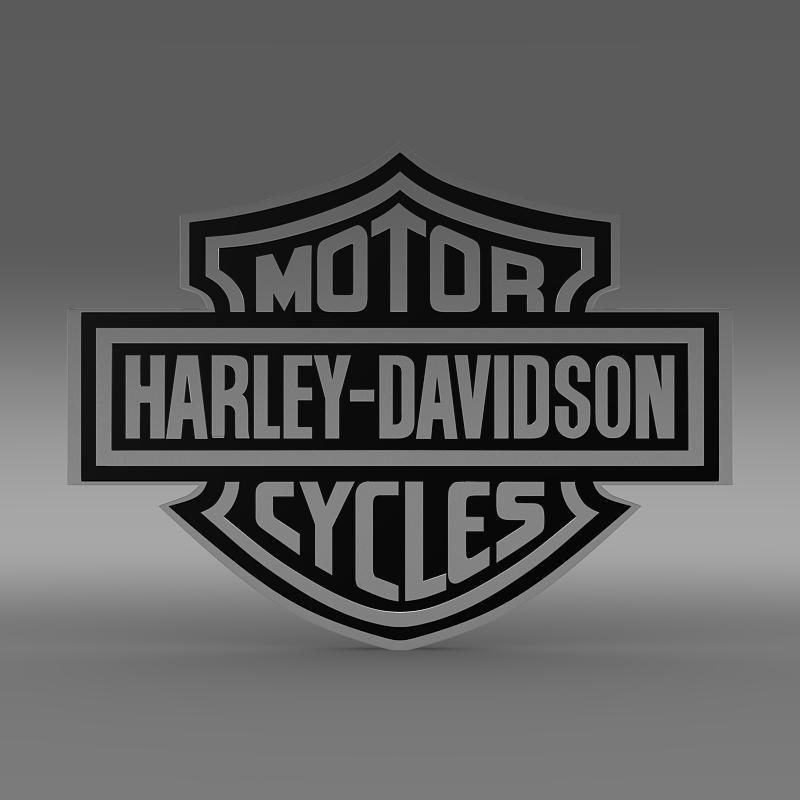 harleydavidson 3d logo 3d model in motorcycle 3dexport