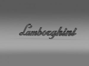 Lamborghini lettering logo