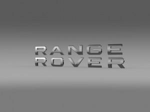 Range Rover lettering logo