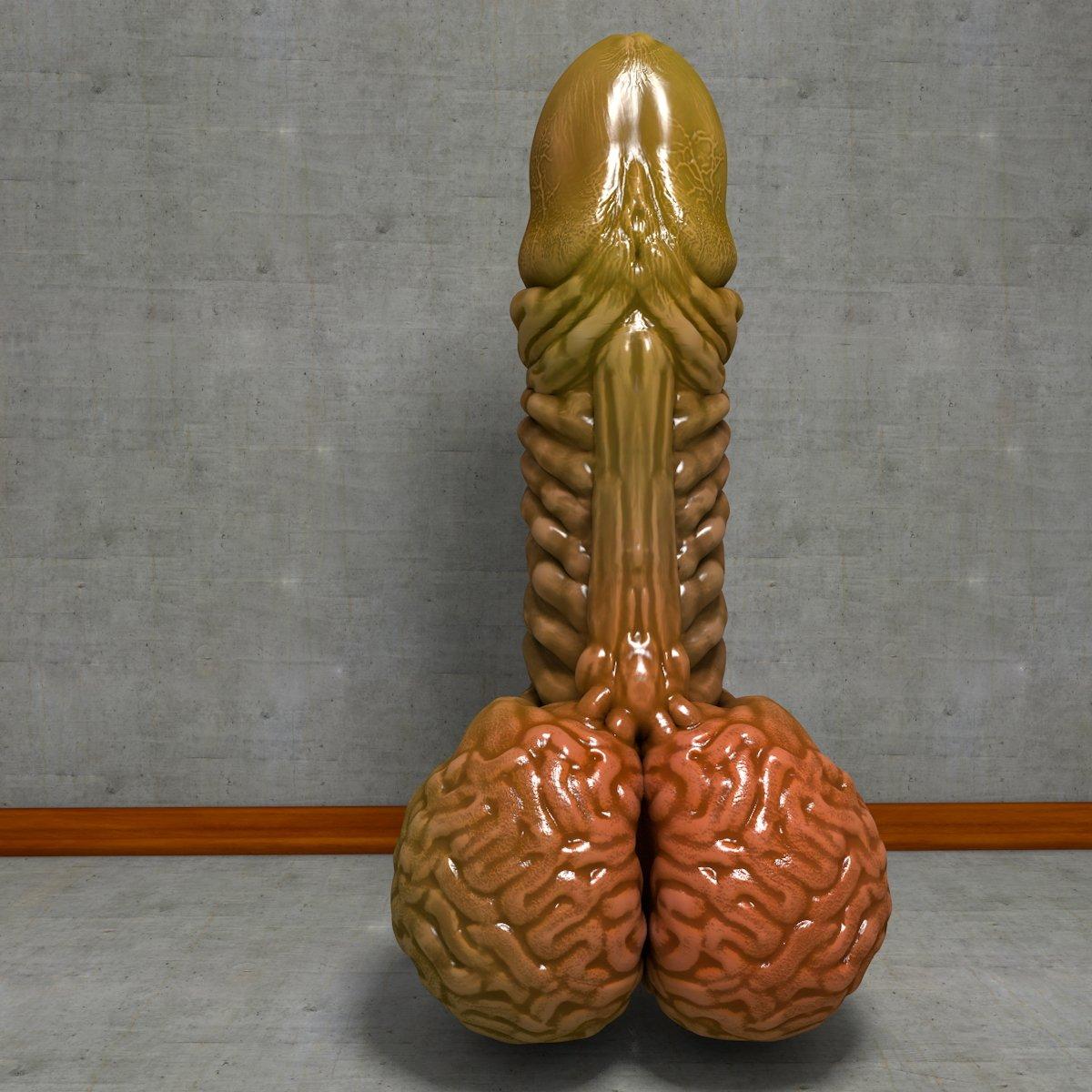Alien Penis Green Modelo 3D in Anatomía 3DExport