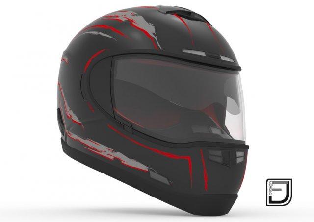 Black Helmet H10 3D Model