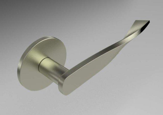 Square Door Handle 8 3D Model