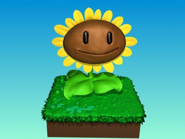 My Plants vs Zombies 3d sunflower 3D Model