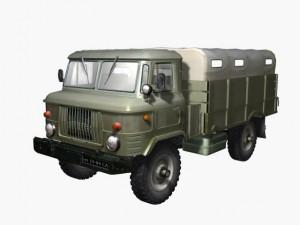 Russian transport truck gaz66