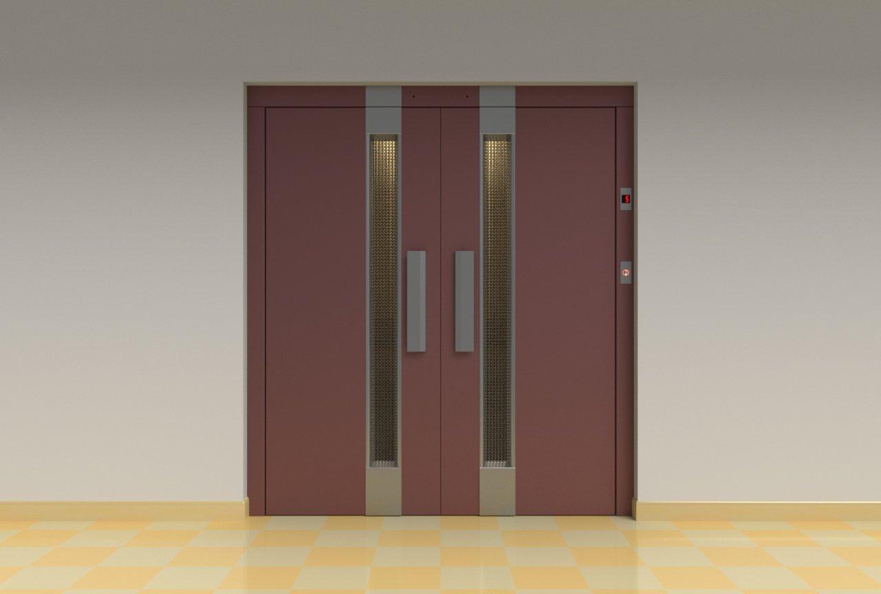 2x People Lift Cargo Elevator 3D Model in Store Spaces 3DExport