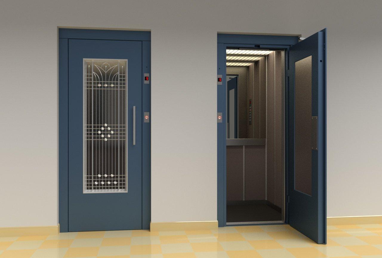 Vintage european elevator 3D Model in Lobby 3DExport