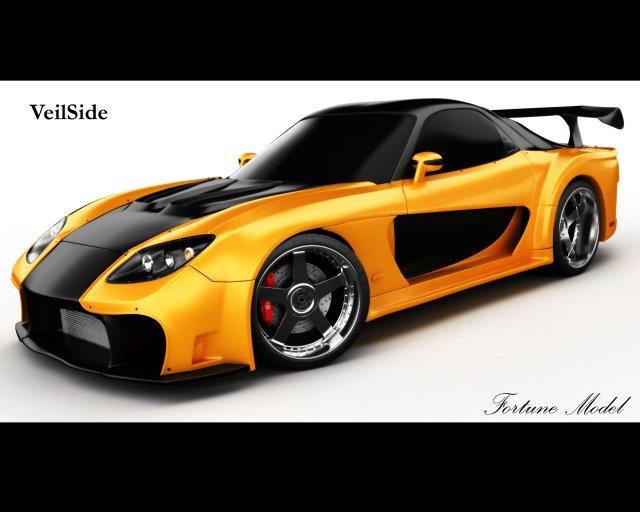 Mazda RX7 Veilside 3D Model