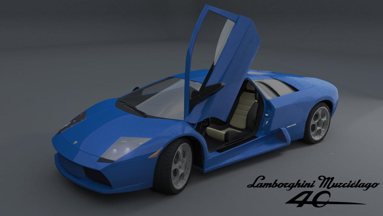 Lamborghini Murcielago 40th Anniversary Edition 3d Model In Sport