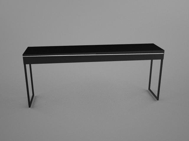 IKEA Besta Burbs Desk 3D Modell