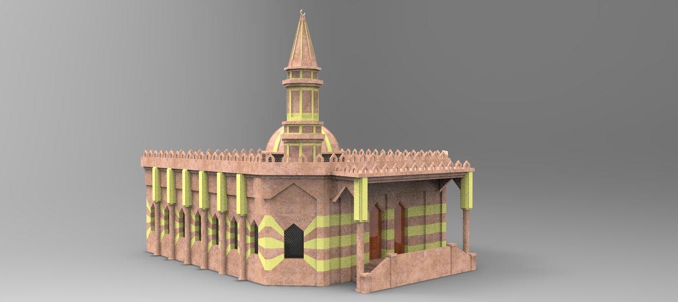 Mosque Free 3D Model in Buildings 3DExport