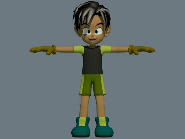 Anime Boy 3D Model