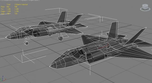 F35 Fighter Jet Low Poly 3D Model