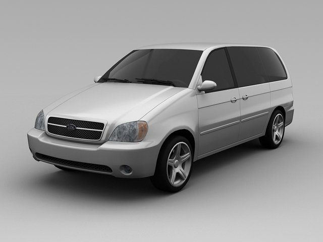 Kia Sedona 2005 Van 3D Model